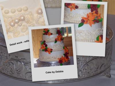 details of lily wedding cake