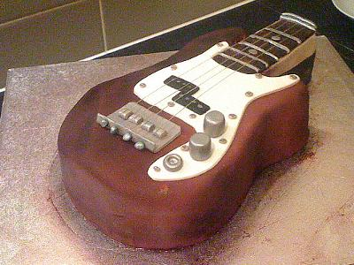 21st bass guitar cake