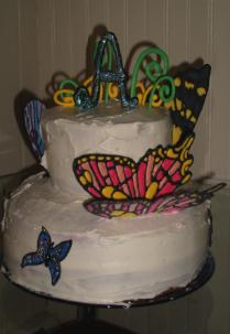 butterfly cake decorating