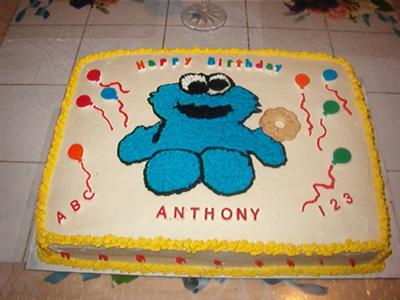 cookie monster sheet cake