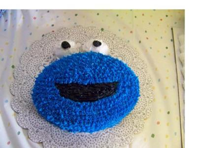 cookie monster face cake