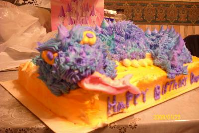 piped dragon cake