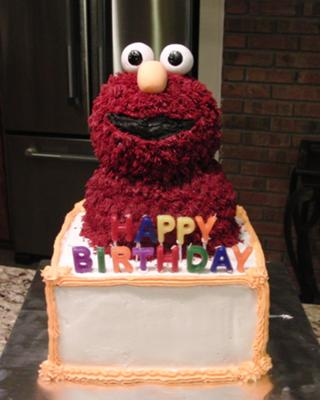 Elmo Birthday Cake