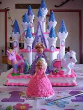 macey's 1st birthday castle cake
