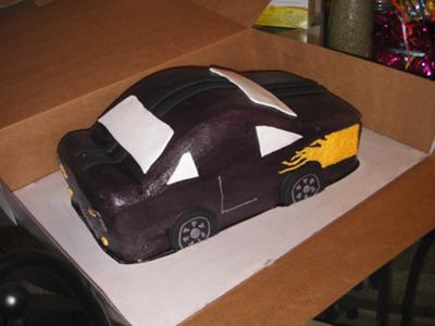 matchbox car cake