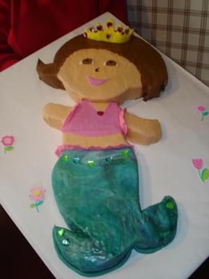 mermaid Dora cake