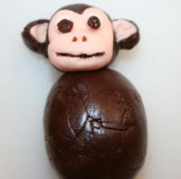 gum paste monkey face
