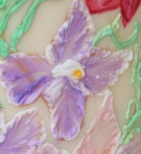 painting royal icing iris