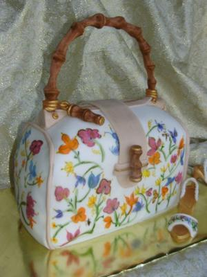 hand painted purse cake