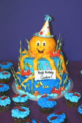 octopus under the sea cake