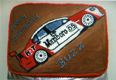 Peter Brock Car Cake