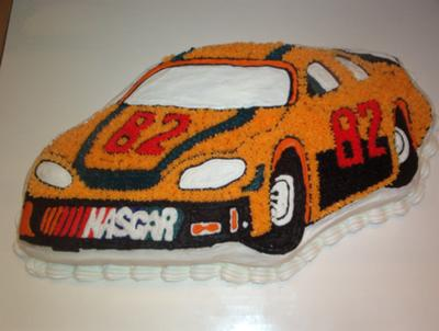 buttercream race car