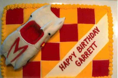 Speed Racer Birthday Cake