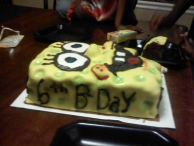 spongebob sheet cake