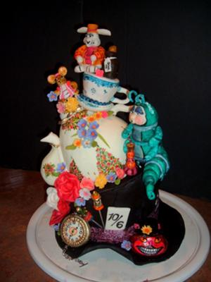 the Mad Hatter's Tea Party Cake