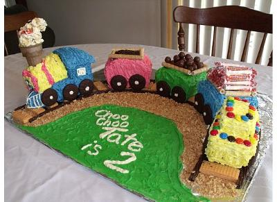 buttercream train cake
