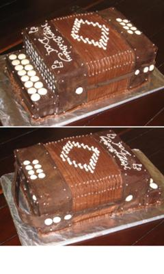 chocolate accordian cake