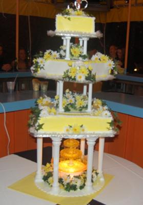 daisies all in yellow wedding cake