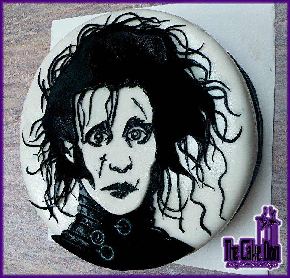edward scissorhands cake