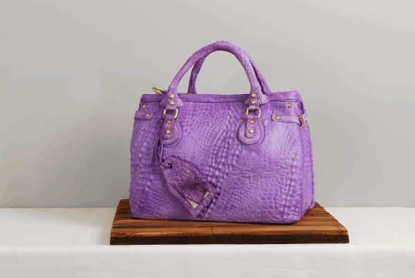 alligator skin handbag