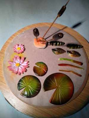 airbrushed pond plants
