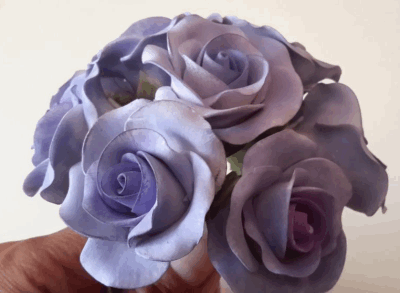 gum paste rose bouquet