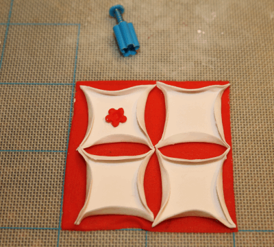 reverse fondant quilting technique
