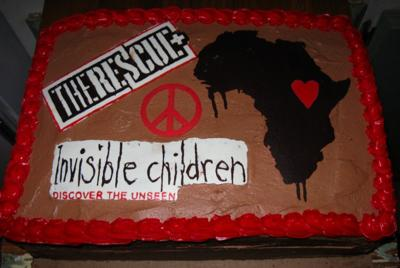 invisible children charity cake