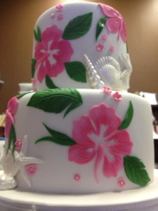hawaiin wedding cake