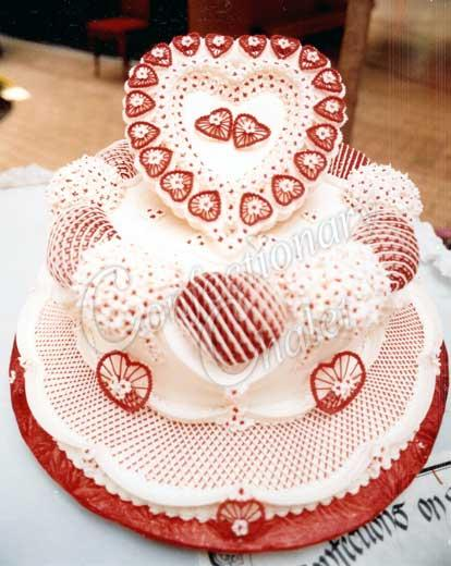 red and white lambeth cake