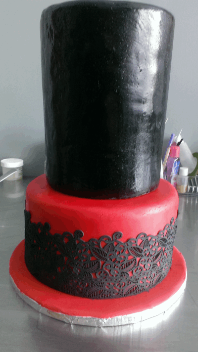 stacked valentines day cake
