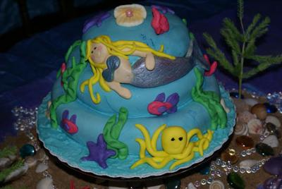 mermaid lagoon cake