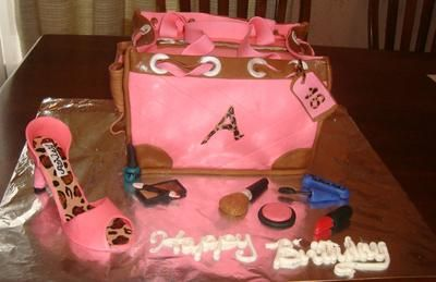 front of purse cake