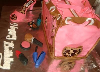 side of purse cake