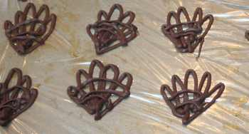 filigree chocolate decorations