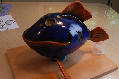 airbrushed fish cake