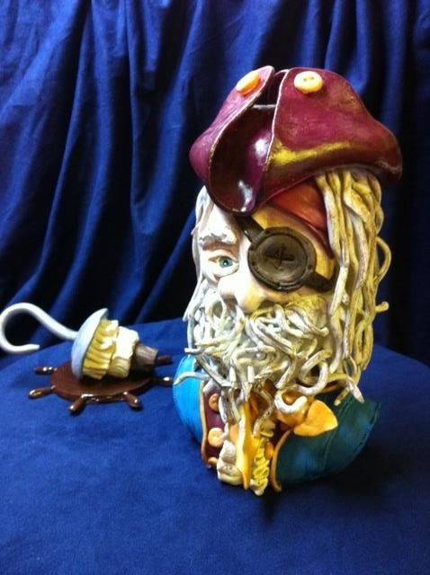 pirate sugar sculpture
