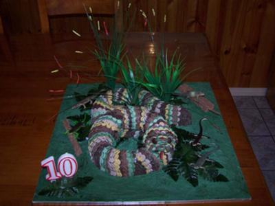 snake in the grass cake