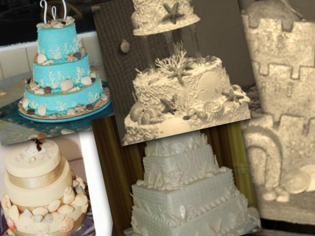 beach theme wedding cakes collection