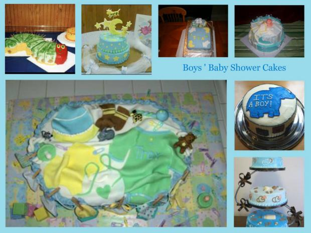 boys baby shower cakes collection