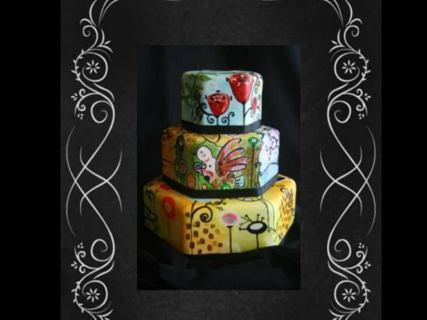 Cake with Painting