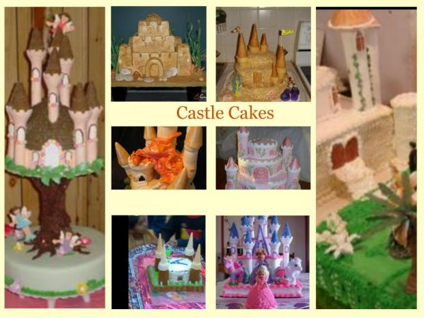 collection of 10 castle cakes