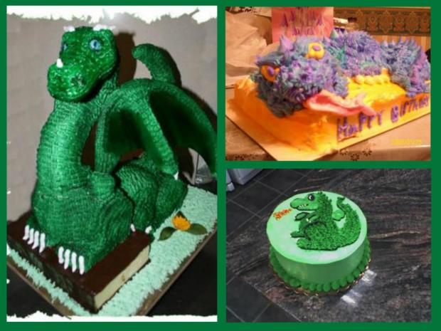 collection of dragon cakes