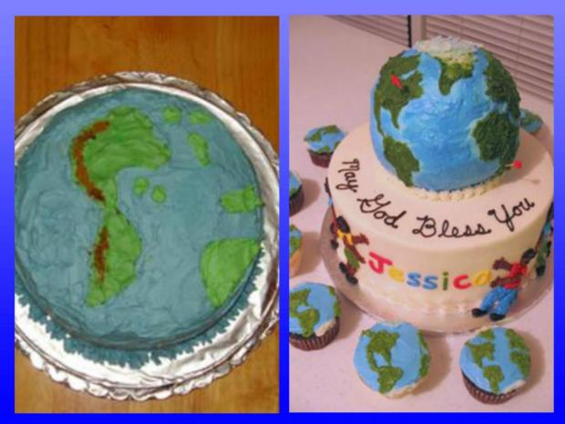planet earth cakes