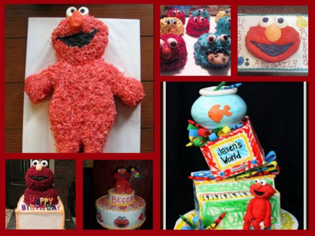 collection of elmo cakes