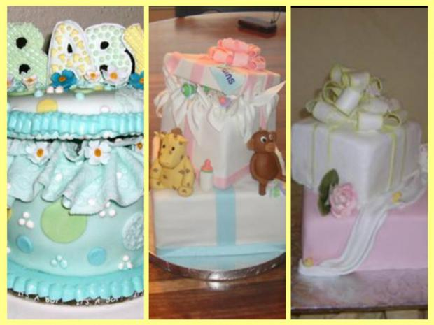 gift box baby shower cakes