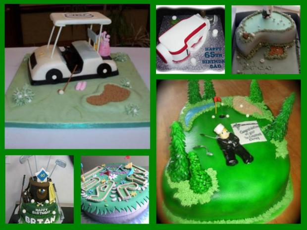 golf cakes collection
