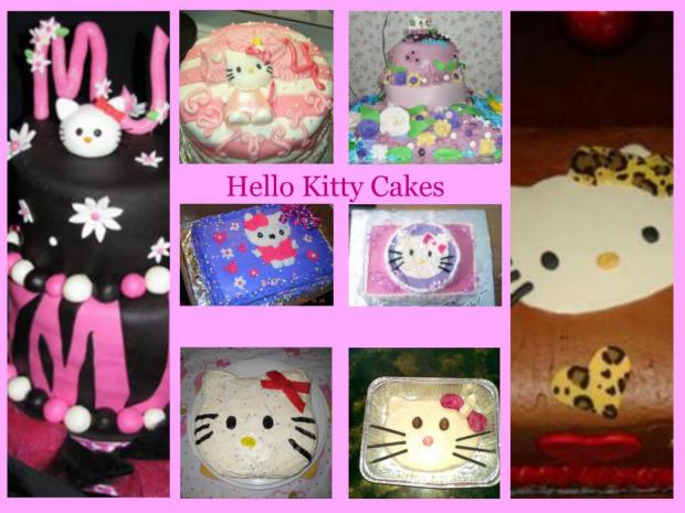collection of hello kitty cakes