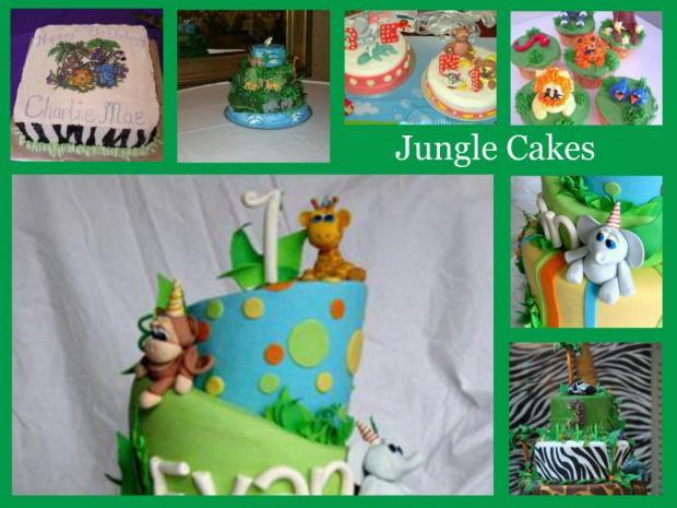 gallery of jungle cakes