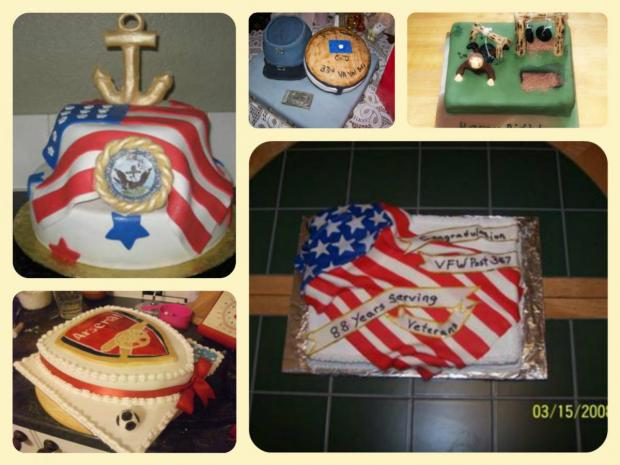 collection of patriotic cakes